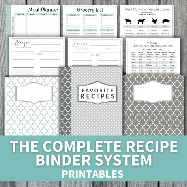 The Complete Recipe Binder System (printables)