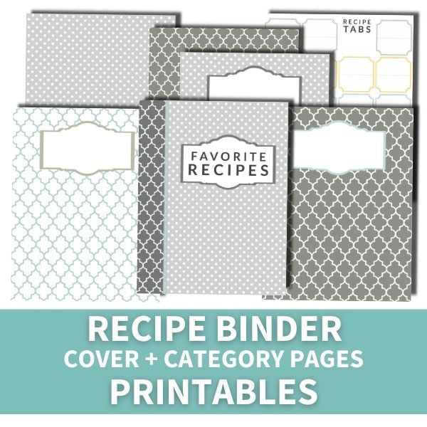 Recipe Binder Cover + Category Pages (printable)