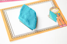 Load image into Gallery viewer, rhombus playdough shape mat
