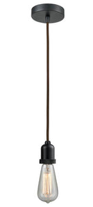 Matte Black Bare Bulb 1 Light 2.75 inch Mini Pendant - No Shade - Vintage Dimmable Bulb Included
