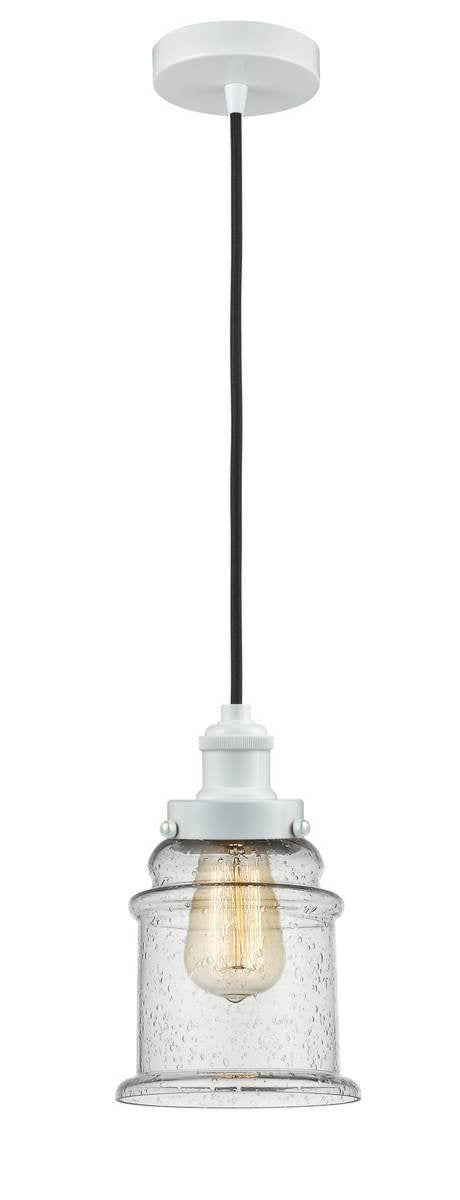 White Canton 1 Light 11.25 inch Mini Pendant - Seedy Canton Glass - Vintage Dimmable Bulb Included