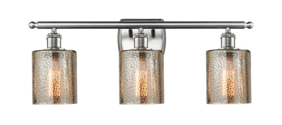 Innovations Lighting 516-3W-SN-G116 Brushed Satin Nickel Cobbleskill 3 Light Bath Vanity Light Mercury Cobbleskill Glass Vintage Dimmable Bulbs Included