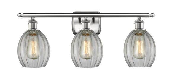 Innovations Lighting 516-3W-SN-G82 Brushed Satin Nickel Eaton 3 Light Bath Vanity Light Clear Eaton Glass Vintage Dimmable Bulbs Included