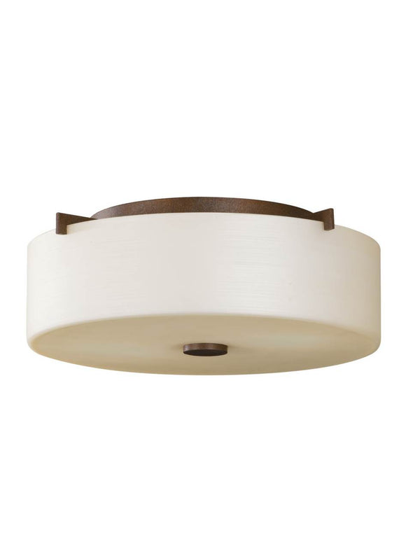 FM313CB Sunset Drive Corinthian Bronze Small 2-Light Flush Mount
