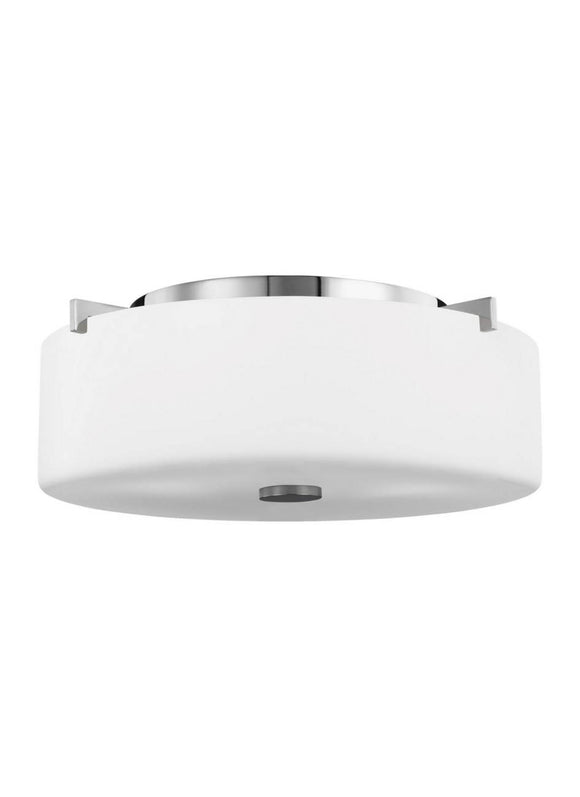 FM313CH Sunset Drive Chrome Small 2-Light Flush Mount