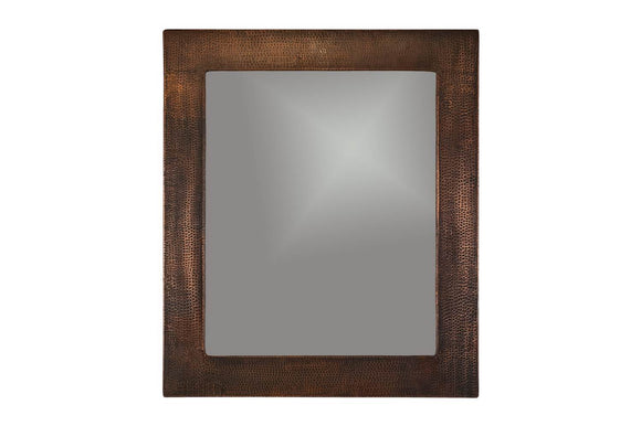 MFREC3631 36 Inch Hand Hammered Rectangle Premier Copper Mirror