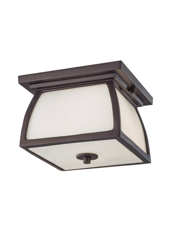 OL8513ORB Wright House Oil Rubbed Bronze 2-Light Outdoor Flush Mount