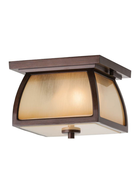 OL8513SBR Wright House Sorrel Brown 2-Light Outdoor Flush Mount