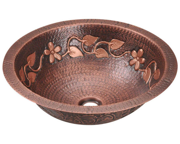 Polaris P329 Single Bowl Copper Bathroom Sink