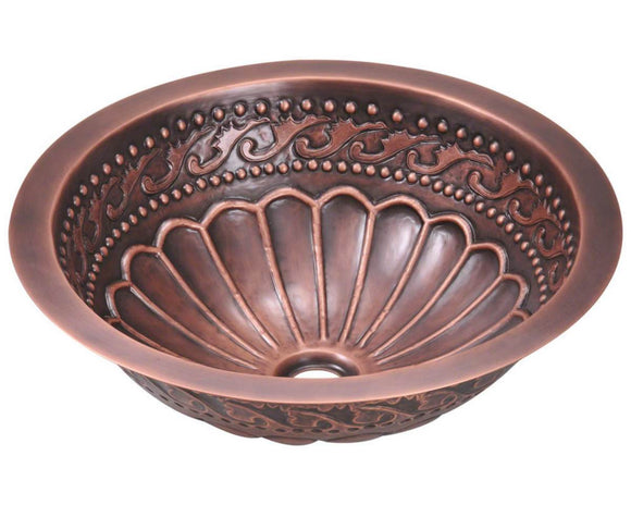 Polaris P429 Single Bowl Copper Bathroom Sink