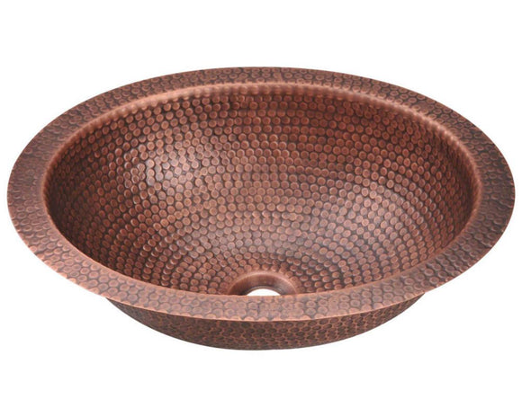 Polaris P909 Single Bowl Oval Copper Sink