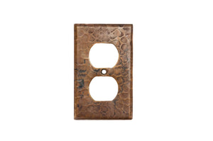 SO2_PKG4 2.75 Inch Premier Copper Switchplate Single Duplex, 2 Hole Outlet Cover - Quantity 4