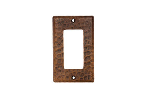 SR1 2.75 Inch Premier Copper Single Ground Fault/Rocker GFI Switchplate Cover