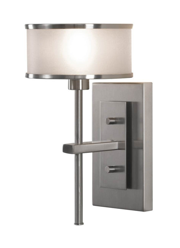 WB1378BS Casual Luxury Brushed Steel 1-Light Wall Sconce