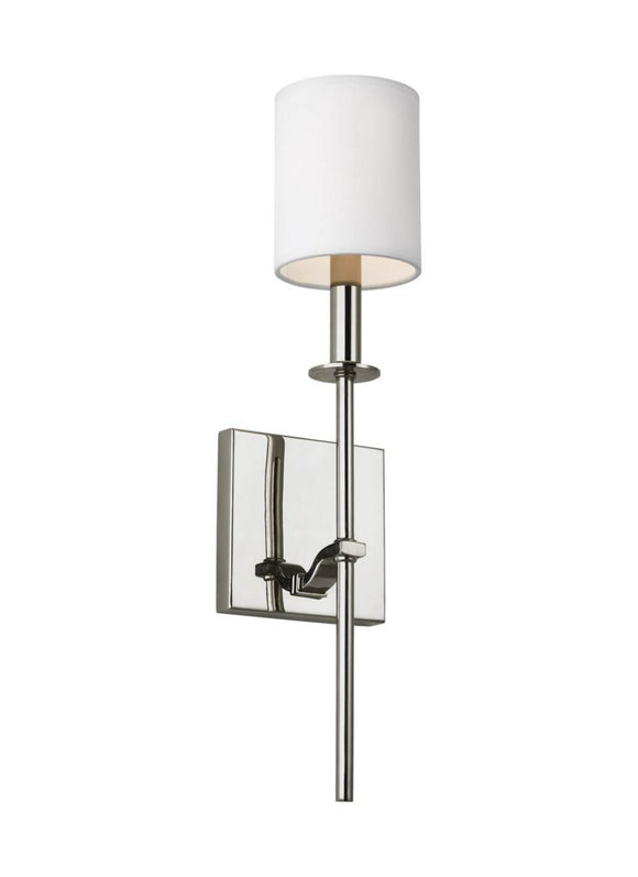 WB1873PN Hewitt Polished Nickel 1-Light Wall Sconce