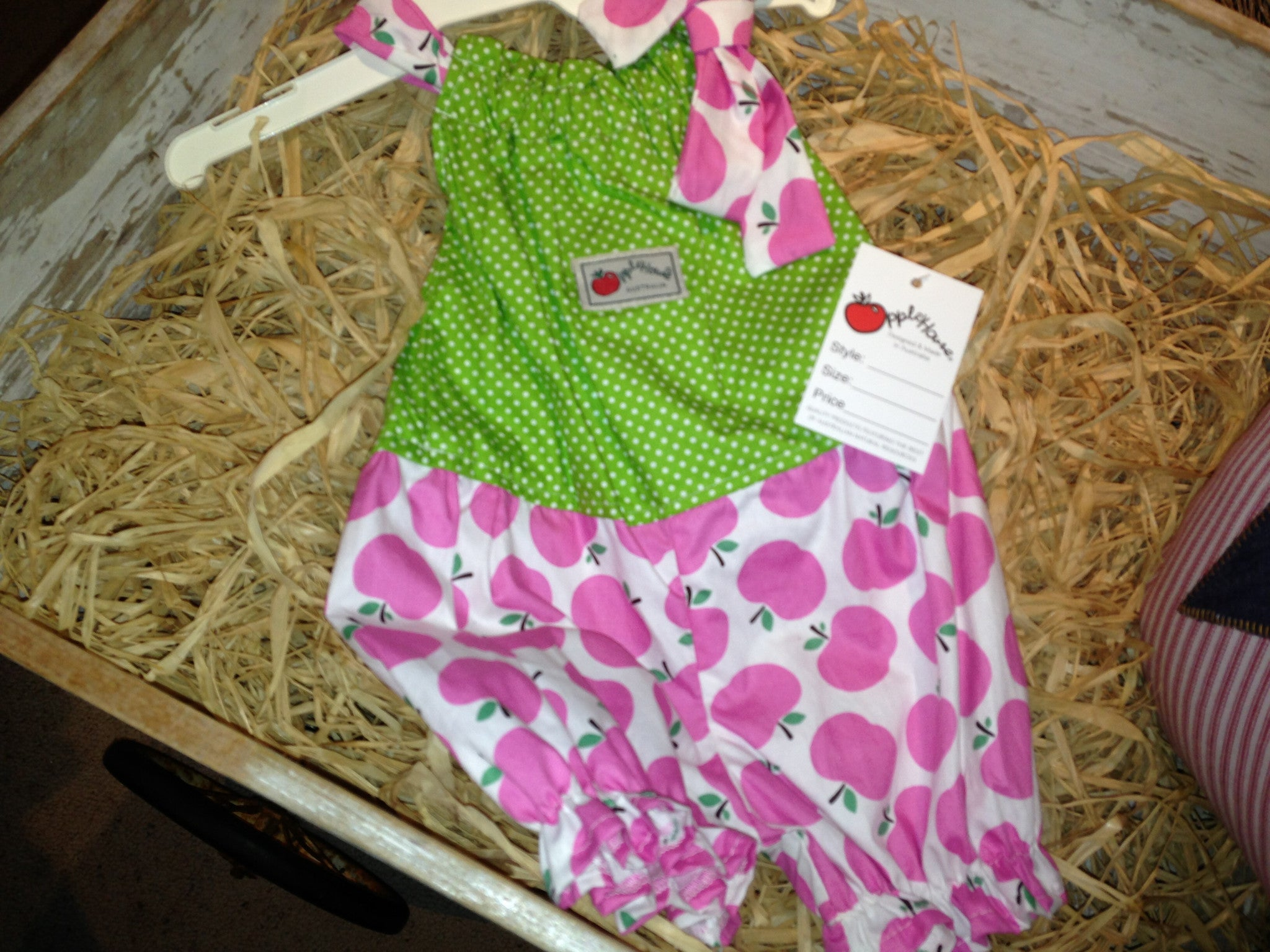 Toffee Apples Pink romper