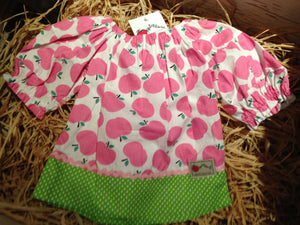 Toffee Apples Pink peasant top