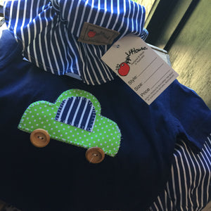 French Navy Apple car tee