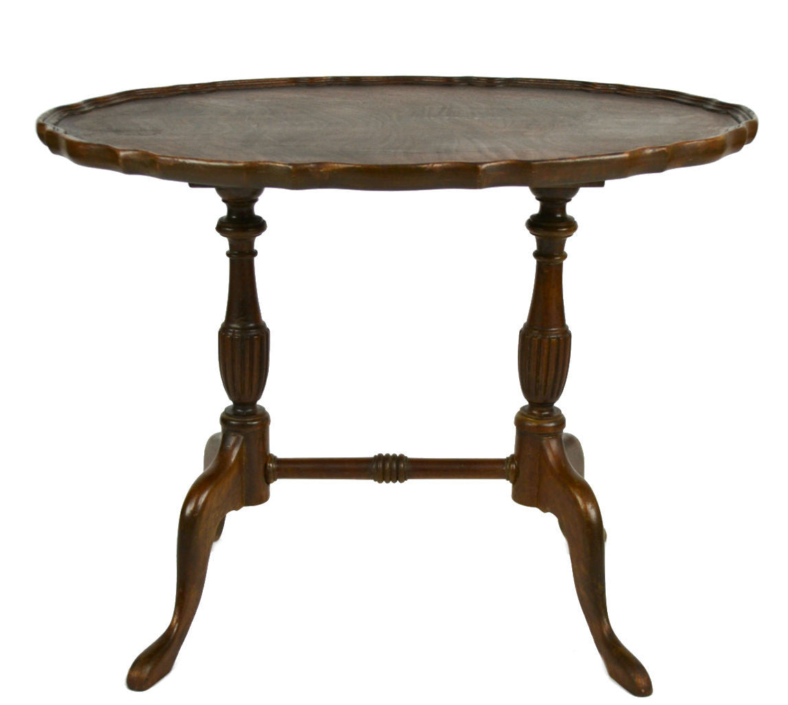 Decorative oval coffee table on stretcher base vintage for Coffee tables on ebay