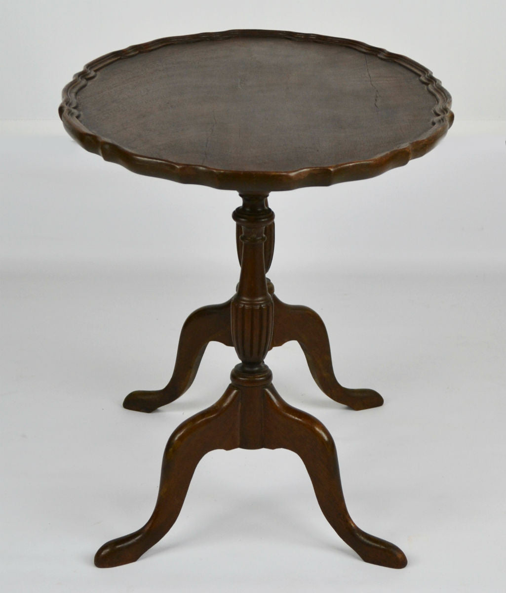 Oval Coffee Table Antique: Decorative Oval Coffee Table On Stretcher Base Vintage