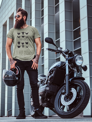 man with beard and motorcycle a real pogonophile