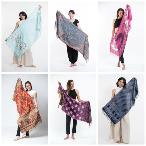 Scarves, Pashminas, and Shawls