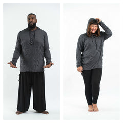 Plus Size Sure Design Unisex Blank Hoodie Black
