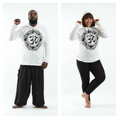 Plus Size Sure Design Unisex Infinitee Ohm Hoodie White