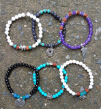 Wholesale Assorted Set of 6 Boho Bead Bracelets With Charm - $45.00
