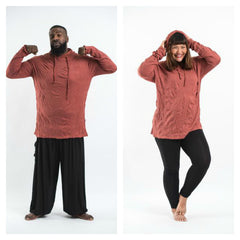 Plus Size Sure Design Unisex Blank Hoodie Brick