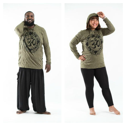 Plus Size Sure Design Unisex Infinitee Ohm Hoodie Green