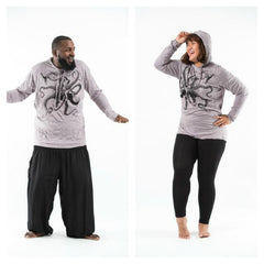 Plus Size Sure Design Unisex Octopus Hoodie Gray