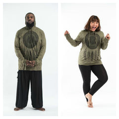 Plus Size Sure Design Unisex Dreamcatcher Hoodie Green