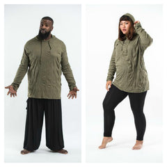 Plus Size Sure Design Unisex Blank Hoodie Green