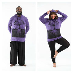 Plus Size Sure Design Unisex Tree of Life Hoodie Purple