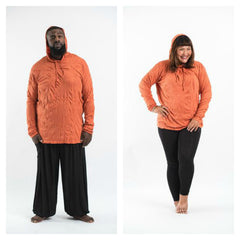 Plus Size Sure Design Unisex Blank Hoodie Orange