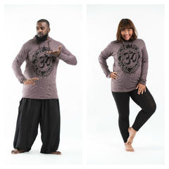 Plus Size Sure Design Unisex Infinitee Ohm Hoodie Brown