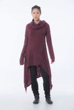 Wholesale Pullover Hoodie Cloak Combo in Maroon - $24.00