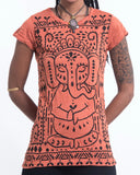 Wholesale Sure Design Women's Shanti Ganesha T-Shirt Orange - $8.00