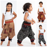 Wholesale Assorted set of 5 Thai Hill Tribe Fabric Kids Harem Pants with Ankle Straps - $42.50