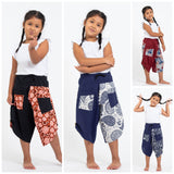 Wholesale Assorted set of 5 Two Tone Spirals Prints Kids Three Quarter Pants - $42.50