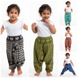 Wholesale Assorted set of 5 Hill Tribe Elephant Kids Elephant Pants - $42.50