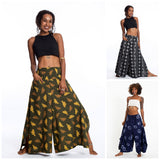 Wholesale Assorted Set of 3 Women's Cotton Palazzo Pants with Faux Buttons - $36.00
