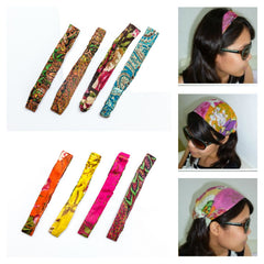 Assorted set of 10 Womens Cotton Hairbands