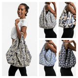 Wholesale Assorted set of 5 Indigo Print Cotton Hobo Bag - $24.00