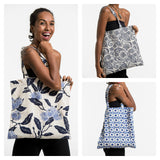 Wholesale Assorted set of 3 Indigo Print Cotton Tote Bag - $22.50
