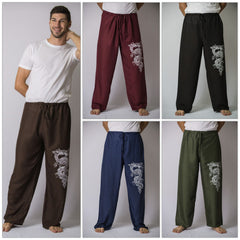 Assorted set of 5 The Dragon Men's Thai Yoga Pants