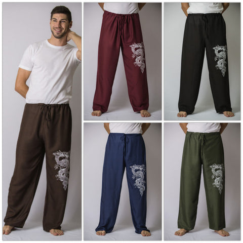 Assorted set of 10 The Dragon Men's Thai Yoga Pants