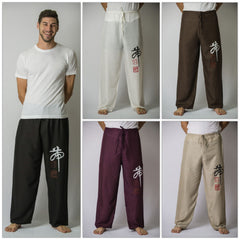 Assorted set of 10 Chinese Writing Men's Thai Yoga Pants
