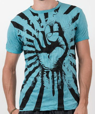 Sure Design Men's Fight to Freedom T-Shirt Turquoise